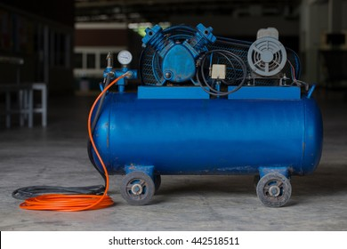 Piston Air compressor used in the factory , Air compressor
