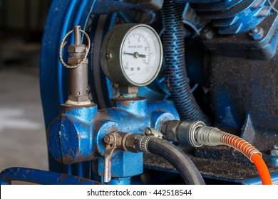 Piston Air compressor used in the factory , Air compressor
