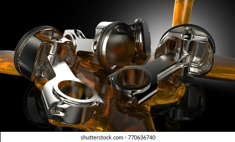 Piston heads Engine Oil
