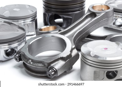 pistons and connecting rods, main parts for an internal combustion engine