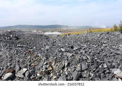 Pit mining in summer, Karagaysky careers mining magnesite