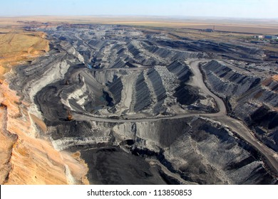 pit on coal mining by open way