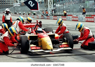Pit stop during Molson Indy Car Racing - EDITORIAL