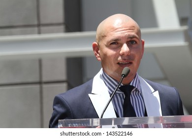 Pitbull at the Jennifer Lopez Star on the Walk of Fame ceremony, Hollywood, CA 06-20-13