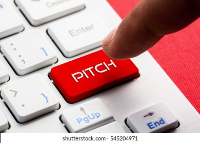 PITCH word concept button on keyboard