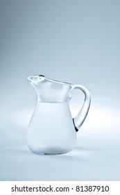 Pitcher filled with cool fresh water