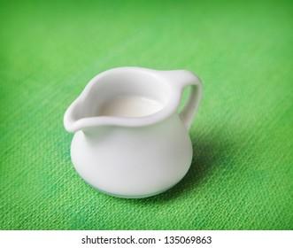 Pitcher of milk
