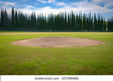 Pitcher's Mound with Baseball - Cypress Outfield