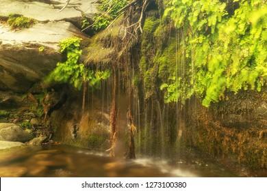 Pithara waterfall at Andros. A beautiful summer destination.