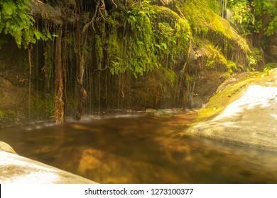 Pithara waterfalls at Andros island in Greece.