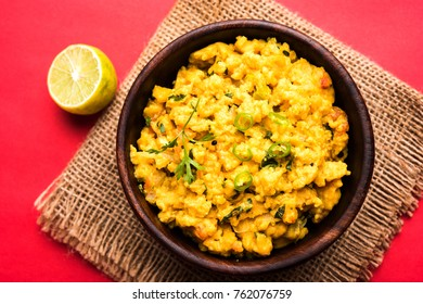 Pithla or pitla Bhakar or spicy besan curry or zunka is a popular food recipe made up of Gram flour and jowar flour from Maharashtra India