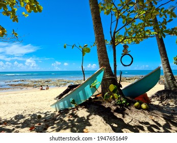 Pitinga Beach, Arraial d'Ajuda is a district of the Brazilian municipality of Porto Seguro, on the coast of the state of Bahia.