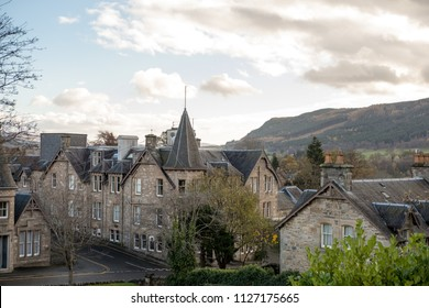 Pitlochry, a burgh in the county of Perthshire in Scotland, lying on the River Tummel in United Kingdom