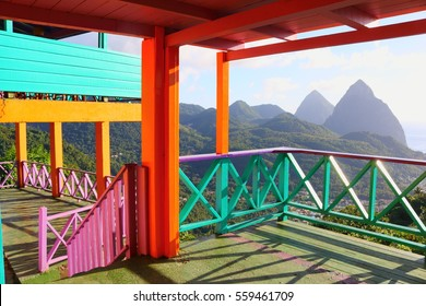 pitons, st. lucia, caribbean