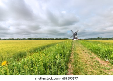 Pitstone windmill up a long path