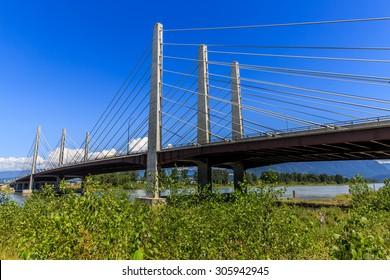 Pitt River Bridge in British Columbia