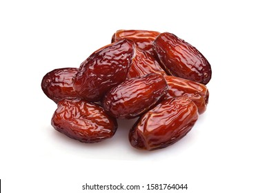 pitted Sweet dried dates fruit isolated on white background. - Image