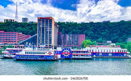 PITTSBURG, PA - MAY, 26, 2019: Gateway Clipper Fleet with Gateway Princess landscape