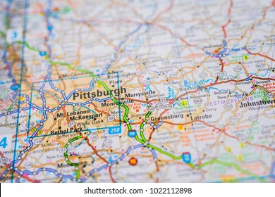 Pittsburgh On Map Of Usa.Pittsburgh On Usa Map Stock Photo Edit Now 1124792873 Shutterstock