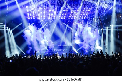 """PITTSBURGH, PA April 22, 2017 -  The Chainsmokers,  EDM-pop duo of Drew Taggart and Alex Pall perform to a sold out crowd at PPG Paints Arena in support of their debut album  'Memories...Do Not Open"""""""