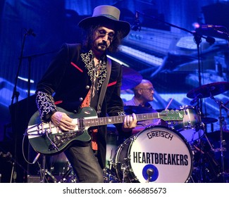 PITTSBURGH, PA June 09 - Mike Campbell, guitarist of Tom Petty & The Heartbreakers perform in Pittsburgh, Friday, June 9 at PPG Paints Arena.