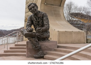 Pittsburgh, PA, USA, 2020-01-11: 'Tribute to Children' aka Mr. Rogers' Memorial Statue