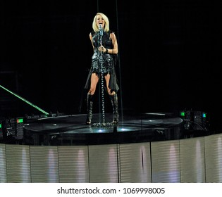 PITTSBURGH, PA / USA - February 17, 2016: Carrie Underwood performs during The Storyteller Tour in Pittsburgh, Wednesday, February 17, 2016 at PPG Paints Arena.