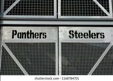 Pittsburgh, PA / USA - January 1 2011: The entrance gates at Heinz Field. Home to the Professional  NFL Pittsburgh Steelers and University of Pittsburgh, Pitt Pathers.