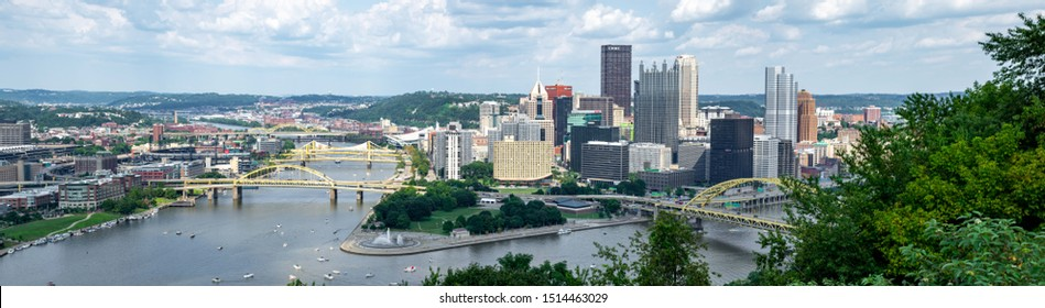 Pittsburgh, Pennsylvania - August 4, 2019: The cityscape and scenery of Pittsburgh, Pennsylvania on August 4, 2019.