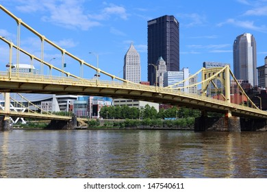 Pittsburgh, Pennsylvania - city in the United States. Skyline with Allegheny River.