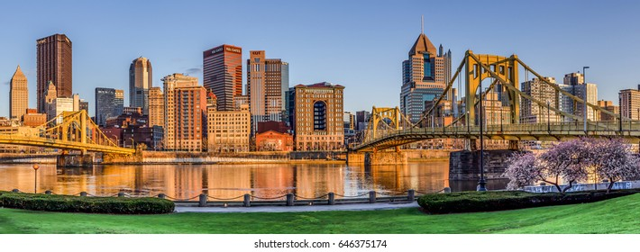 Pittsburgh Pennsylvania Skyline Panorama