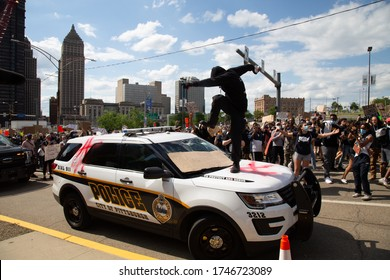 """Pittsburgh, Pennsylvania / U.S. - May 30 2020: Pittsburgh Riots"