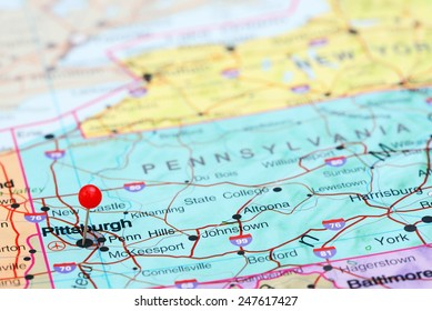 Pittsburgh Map Images Stock Photos Vectors Shutterstock