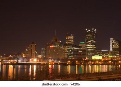 Pittsburgh skyline looking northeast