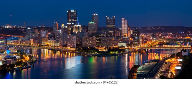low priced def90 9925d Pittsburgh skyline panorama.