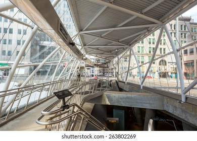 PITTSBURGH, USA - FEB 26: Gateway station in downtown Pittsburgh on February 26, 2015. It was opened on 3 July 1985.
