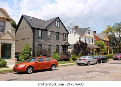PITTSBURGH, USA - JUNE 30, 2013: Residential area of Shadyside, Pittsburgh. It is the 2nd largest city of Pennsylvania with population of 305,841.