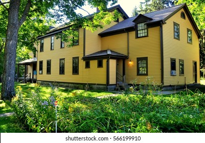 "Pittsfield, Massachusetts - September 17, 2014 :  American author Herman Melville's home, Arrowhead, where he wrote the classic novel ""Moby Dick"""