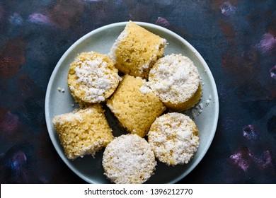 Pittu or puttu, a famous breakfast dish in Sri Lanka, India, Singapore and Malaysia.
