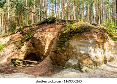 Piusa caves in Võru maakonnas, Estonia