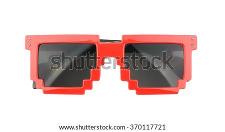 Pixel glasses isolated on