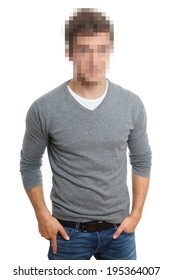 pixelated face to preserve anonymity