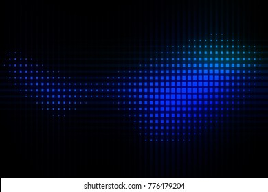 Pixels abstract blue and black