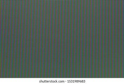 Pixels in macro scale of liquid crystal screen monitor, phone