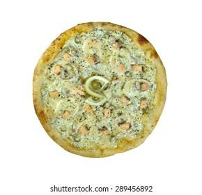 Pizza ai frutti di mare  sardines and salmon