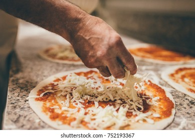 Pizza Art. The process of making pizza