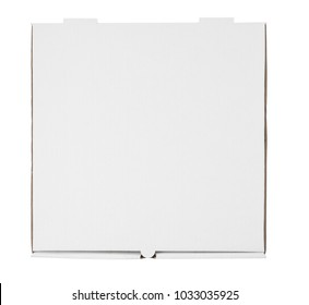 Pizza box template on white background, isolated