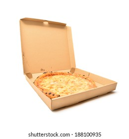 pizza in the cardboard box