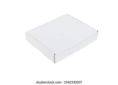 pizza cardboard isolated on white background