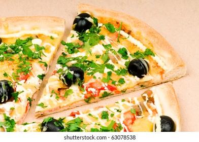 Pizza in carton box